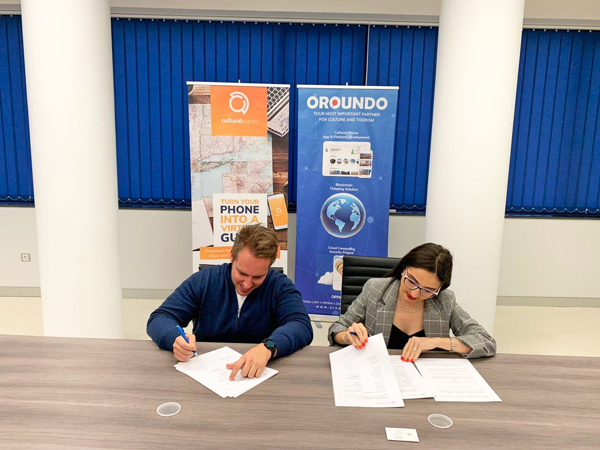 OROUNDO Tech and Bit Alliance signing the memorandum of cooperation